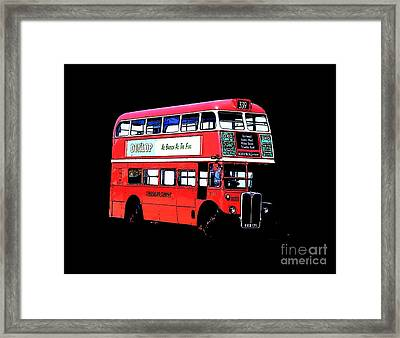 Vintage London Bus Tee Framed Print by Edward Fielding
