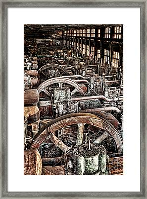 Vintage Machinery Framed Print by Olivier Le Queinec