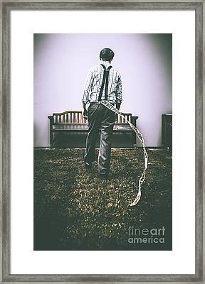 Vintage Man Breaking Rules Framed Print by Jorgo Photography - Wall Art Gallery