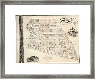 Vintage Map Of Marthas Vineyard - 1873 Framed Print by CartographyAssociates