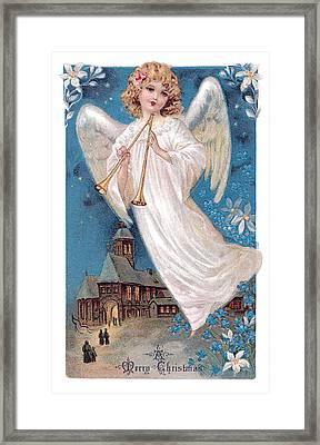 Vintage Merry Christmas Framed Print by Unknown