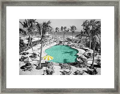 Vintage Miami Framed Print by Andrew Fare