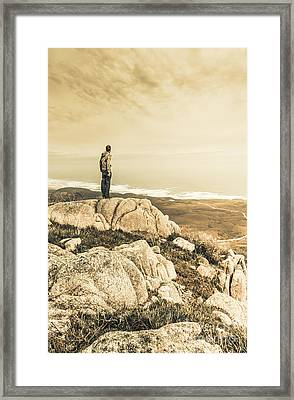 Vintage Mountain Dreamer Framed Print by Jorgo Photography - Wall Art Gallery