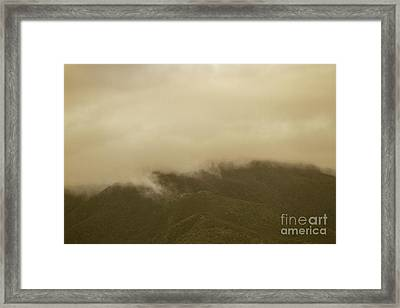 Vintage Mountains Covered By Cloud Framed Print by Jorgo Photography - Wall Art Gallery