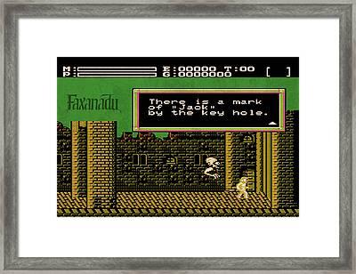 Vintage Nintendo Nes Faxanadu Game Scene Framed Print by Design Turnpike