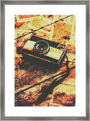 Vintage Old-fashioned Film Camera Framed Print by Jorgo Photography - Wall Art Gallery