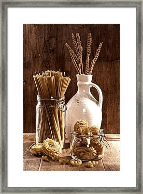 Vintage Pasta  Framed Print by Amanda And Christopher Elwell