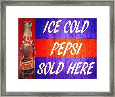 Vintage Pepsi Cola Barn Door Framed Print by Dan Sproul