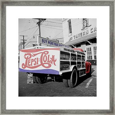 Vintage Pepsi Truck Framed Print by Andrew Fare