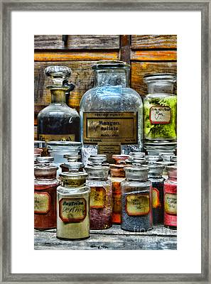 Vintage Pharmacy - So Many Chemicals Framed Print by Paul Ward