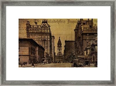 Vintage Philadelphia Framed Print by Bill Cannon