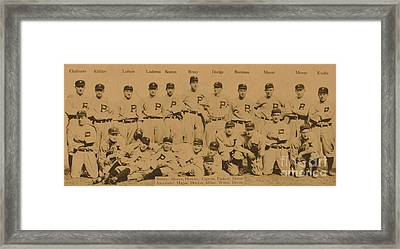 Vintage Philadelphia Phillies Baseball Card  Framed Print by American School