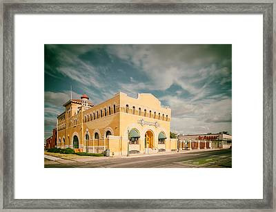 Vintage Photograph Of Dr. Pepper Museum In Waco Texas Framed Print by Silvio Ligutti