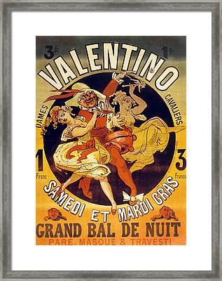 Vintage Poster For Cabaret Valentino  Framed Print by Jules Cheret