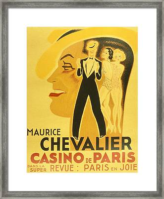 Vintage Poster Framed Print by French School