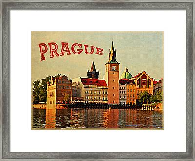 Vintage Prague Framed Print by Flo Karp