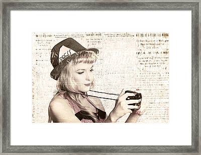 Vintage Press Photographer Framed Print by Jorgo Photography - Wall Art Gallery