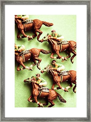 Vintage Racehorse Art Framed Print by Jorgo Photography - Wall Art Gallery
