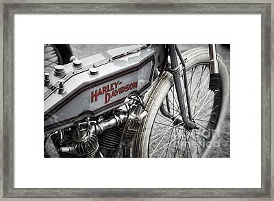 Vintage Racing Harley Framed Print by Tim Gainey