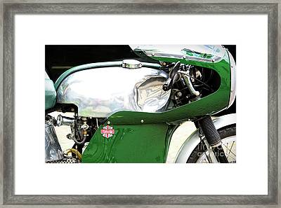 Vintage Racing Velocette Framed Print by Tim Gainey