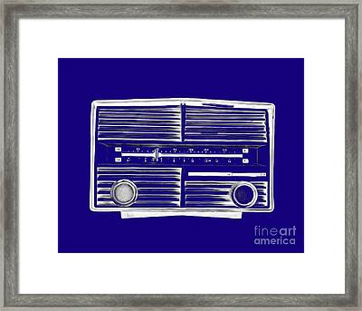 Vintage Radio Tee Framed Print by Edward Fielding