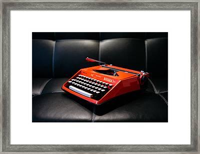 Vintage Rivera Typewriter Framed Print by Mountain Dreams