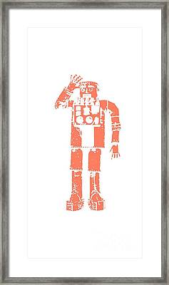 Vintage Robot Tee Framed Print by Edward Fielding
