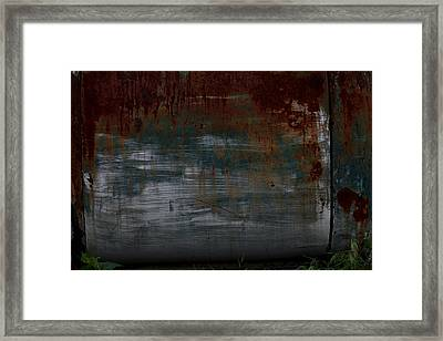 Vintage Rusted Chevy Door  Framed Print by Toni Hopper