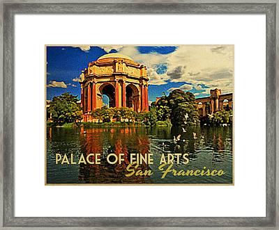Vintage San Francisco Palace Fine Arts Framed Print by Flo Karp