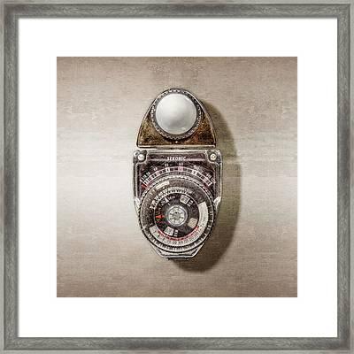 Vintage Sekonic Deluxe Light Meter Framed Print by YoPedro