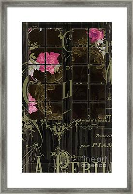 Vintage Shabby French Door Framed Print by Mindy Sommers