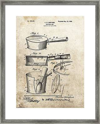 Vintage Shaving Cup Patent Framed Print by Dan Sproul