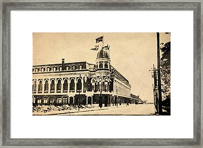 Vintage Shibe Park In Sepia Framed Print by Digital Reproductions