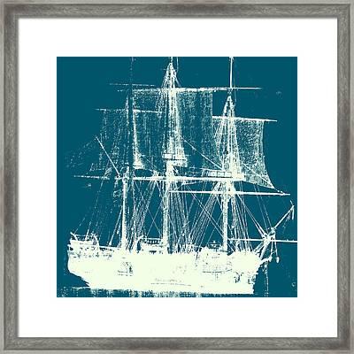Vintage Ship V2 Framed Print by Brandi Fitzgerald