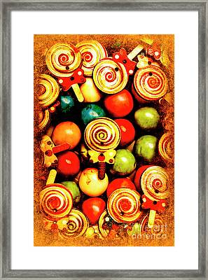 Vintage Sweets Store Framed Print by Jorgo Photography - Wall Art Gallery