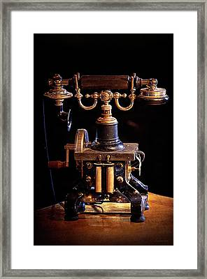 Vintage Telephone - Casa Loma Framed Print by Maria Angelica Maira