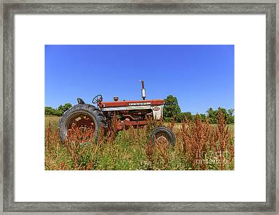 Vintage Tractor Finger Lakes Framed Print by Edward Fielding