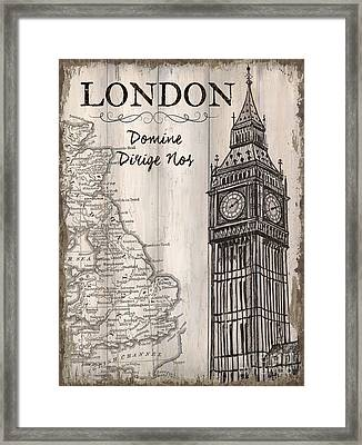 Vintage Travel Poster London Framed Print by Debbie DeWitt