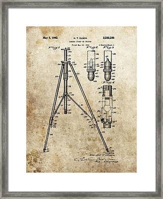Vintage Tripod Patent Framed Print by Dan Sproul