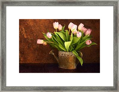 Vintage Tulips Framed Print by Heike Hultsch
