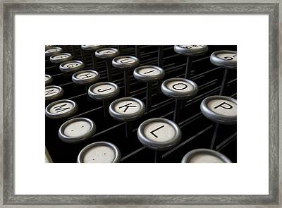 Vintage Typewriter Keys Close Up Framed Print by Allan Swart