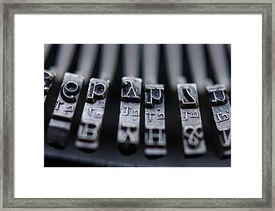 Vintage Typewriter Keys Framed Print by June Marie Sobrito
