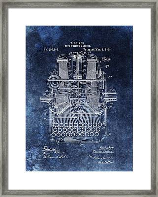 Vintage Typewriter Patent Framed Print by Dan Sproul