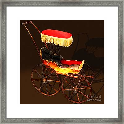 Vintage Victorian Stroller 20150921 Square Framed Print by Wingsdomain Art and Photography