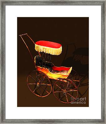 Vintage Victorian Stroller 20150921 Framed Print by Wingsdomain Art and Photography