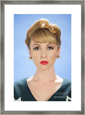 Vintage Woman Framed Print by Amanda Elwell