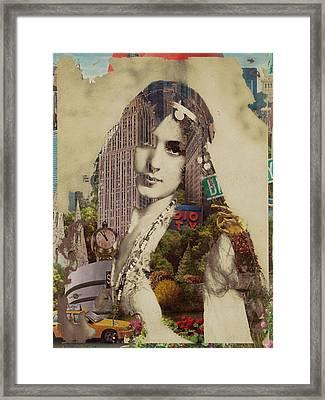 Vintage Woman Built By New York City 1 Framed Print by Tony Rubino