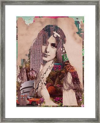 Vintage Woman Built By New York City 2 Framed Print by Tony Rubino