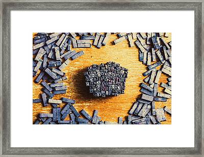 Vintage Writers Block Framed Print by Jorgo Photography - Wall Art Gallery