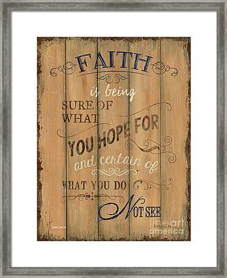 Vintage Wtlb Faith Framed Print by Debbie DeWitt